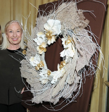 Marjorie & Wreath for the 2012 Children's Action Network Auction