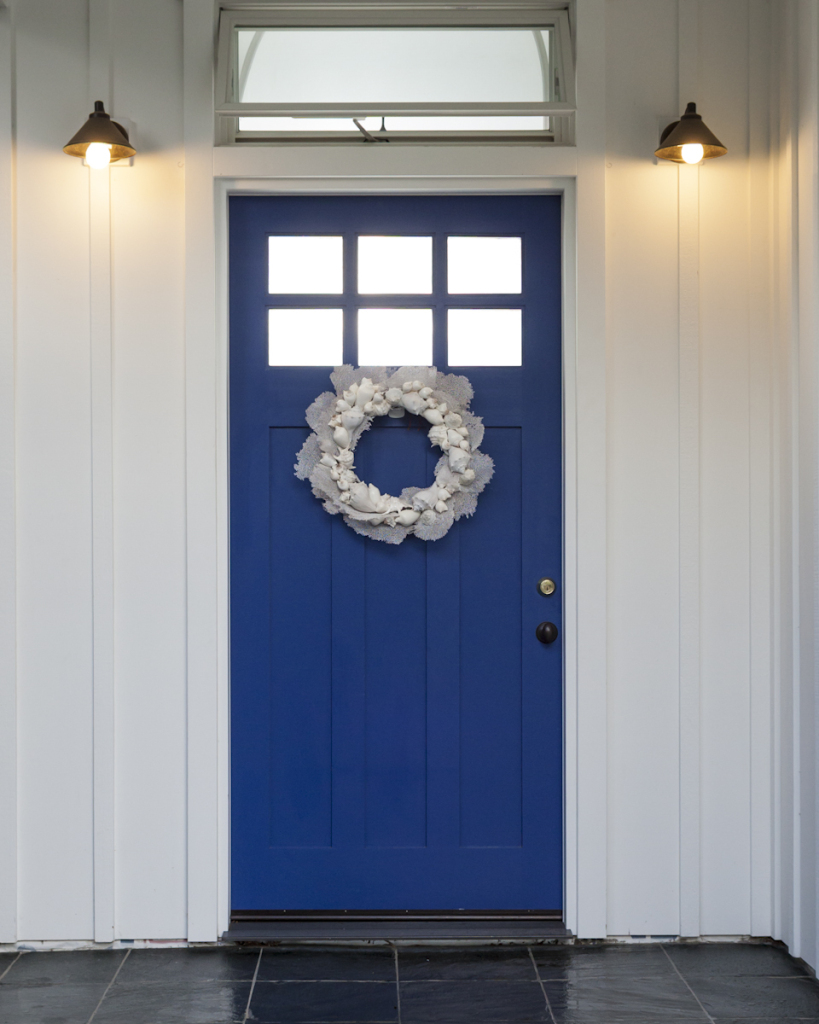 Sea Mist on Cobalt Blue Door