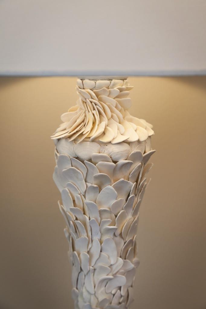 redondo beach shell lamp detail