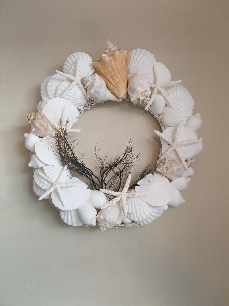 key west seashell wreath